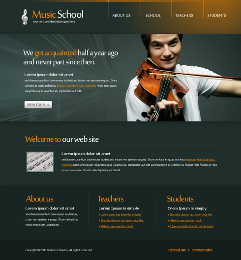 Website Templates Music 5620