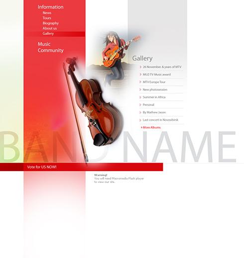 Pagini web muzica