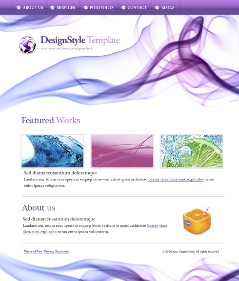Website Templates  Abstract  5421