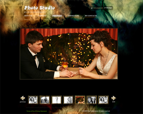 Flash Templates Photo Portfolios 5553