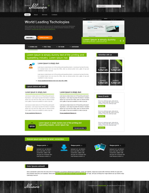 Website Templates Personal trendyweb 5542