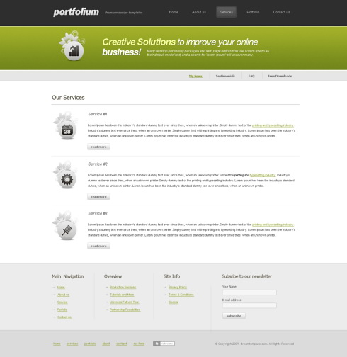 Website Templates Personal greenzone 6112
