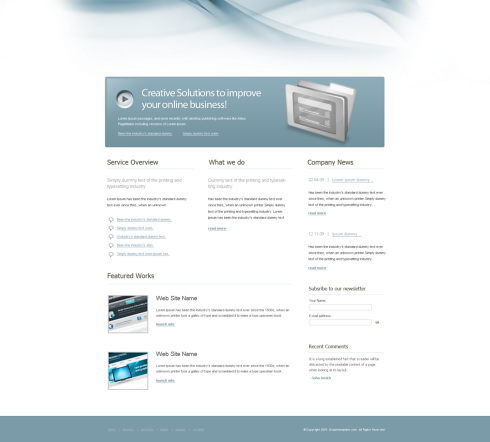 Website Templates Personal designidea 6390