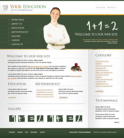 Website Templates Education Kids 4324
