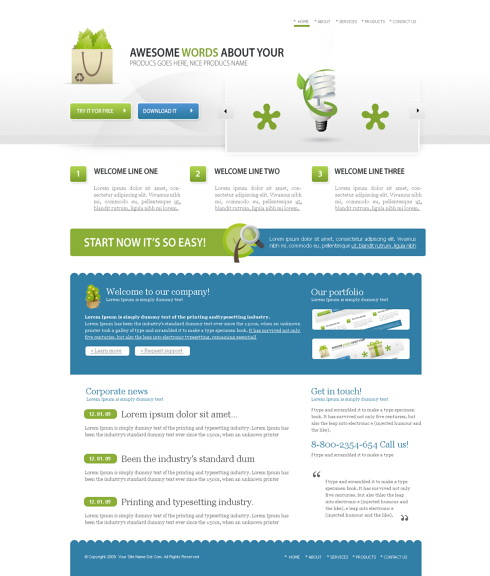 Dynamic XHTML  Corporate  cleanandsimple 5535