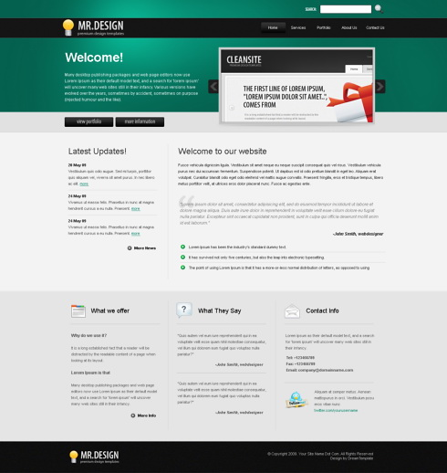 Website Templates Corporate mrdesign 6115