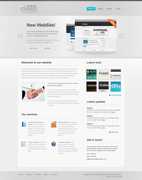 Website Templates Corporate silverpress 6134