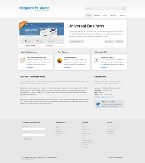 Website Templates simplyelegant 6136
