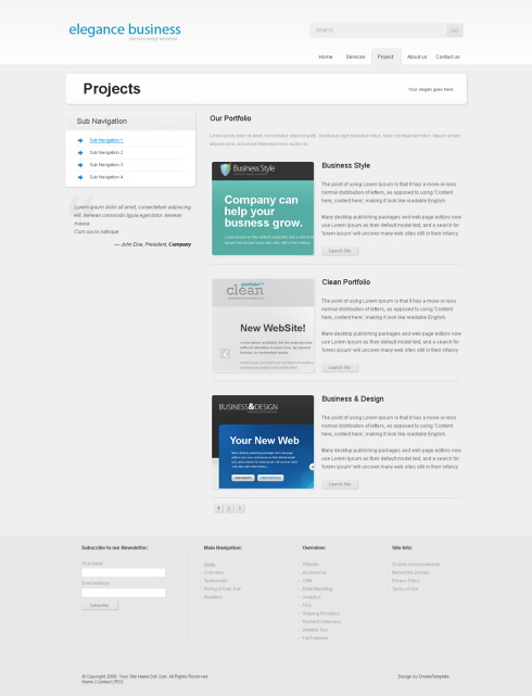 Website Templates simplyelegant 6136