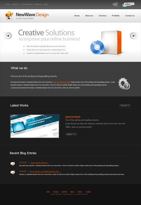 Website Templates Corporate newwave 6397