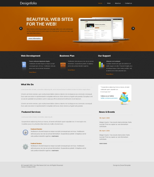 Website Templates Corporate ojmix 6398