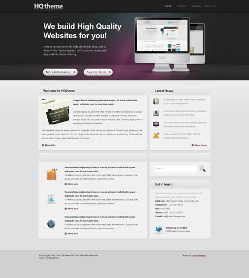 Website Templates Corporate hqtheme 6409