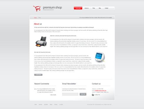Website Templates Corporate premiumshop 6410