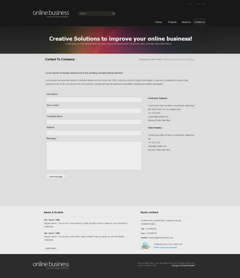Website Templates Corporate corporatemagic 6412