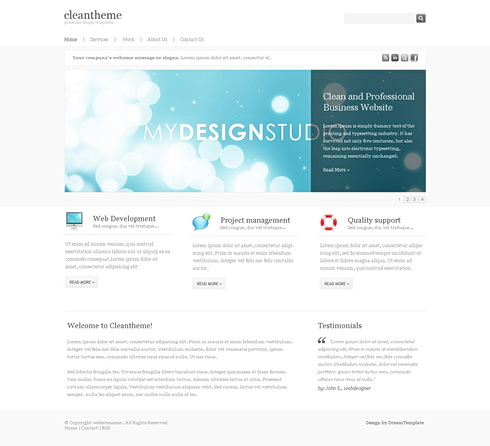 Dynamic XHTML Corporate whiteclouds 6817