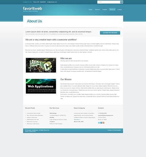Dynamic XHTML  Corporate  favoritweb 6824