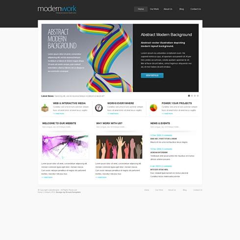 3 Dream Template - Logic company - Interactive media - Modern work