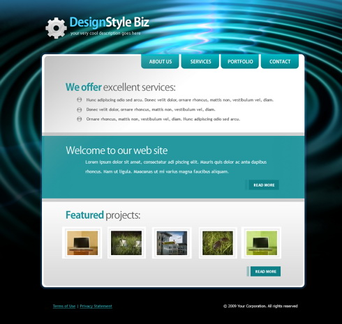 Website Templates Abstract Creative 5893