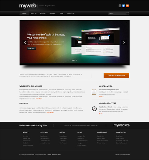 template myweb-cuber