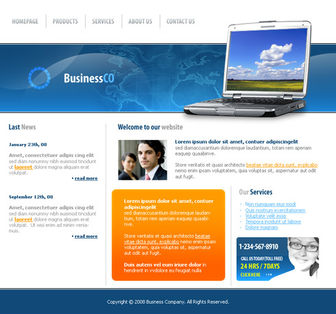 Website Template Computers 3173