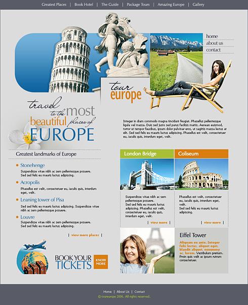 programe web design site agentie de turism