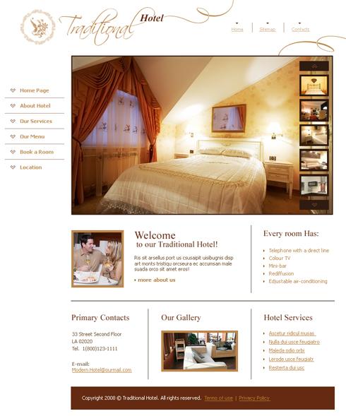 programe web design site hotel
