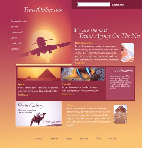 Realizare Site Online agentie de turism online