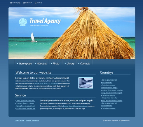 Pagini web agentie de turism