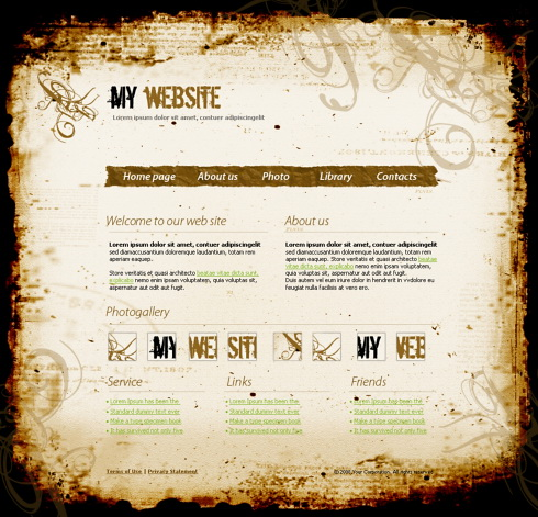 Industrial & History Website Template 4288