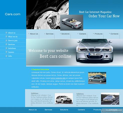 Relizare site reprezentanta auto, magazin auto