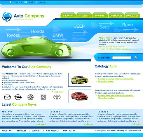 Pagini web masini