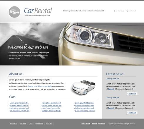 Propriul site inchirieri de masini