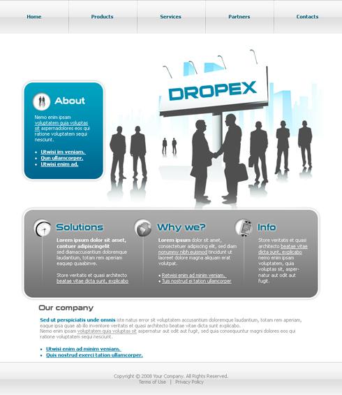 Website Templates Clean Corporate 3638