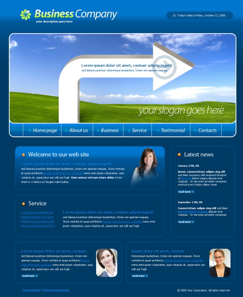 Website Templates Business 4239