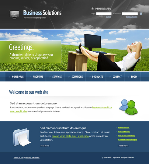 Website Templates Business 6124