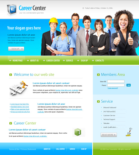 Website Templates Business 6154