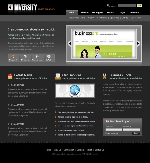 Website Templates Web 2.0 Style 6433