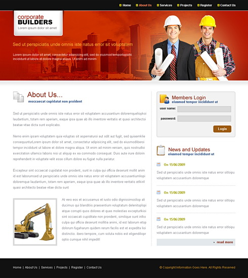 template corporate builders 6587
