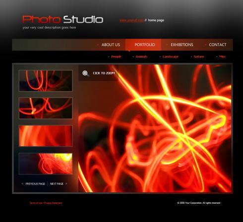 Creare site studio foto