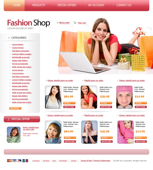 Template e-commerce