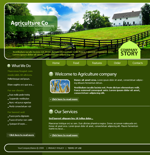 web design download site agricultura, ferma