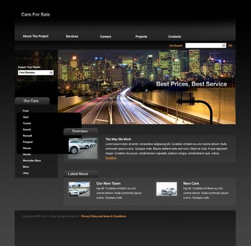 Web Design Ieftin site reprezentanta auto