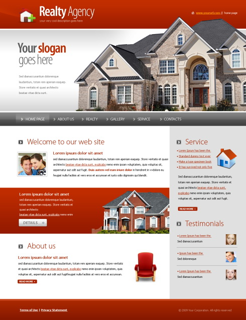 Free house rental website template invitation / 2018