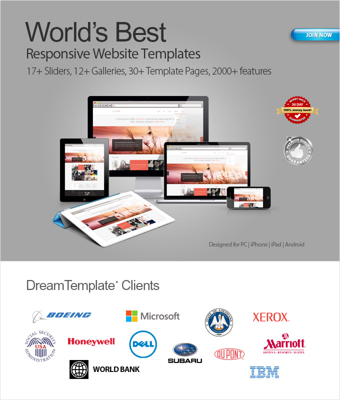Website Templates offer