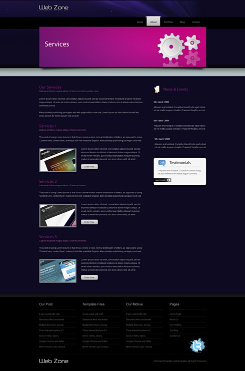 webzoo css template personal css templates css templates dreamtemplate. Black Bedroom Furniture Sets. Home Design Ideas