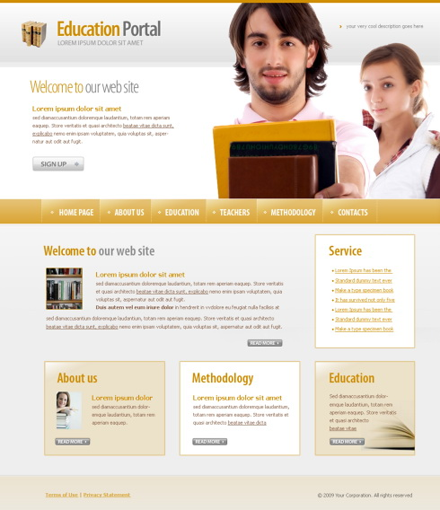University Html Templates University HTML Template - 4369 - Education & Kids - Website Templates - DreamTemplate