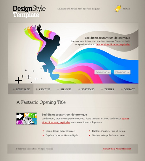 my ways web template 6104 creative amp design website