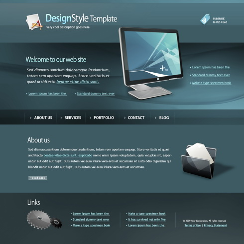 monitor html template 4449 computers technology