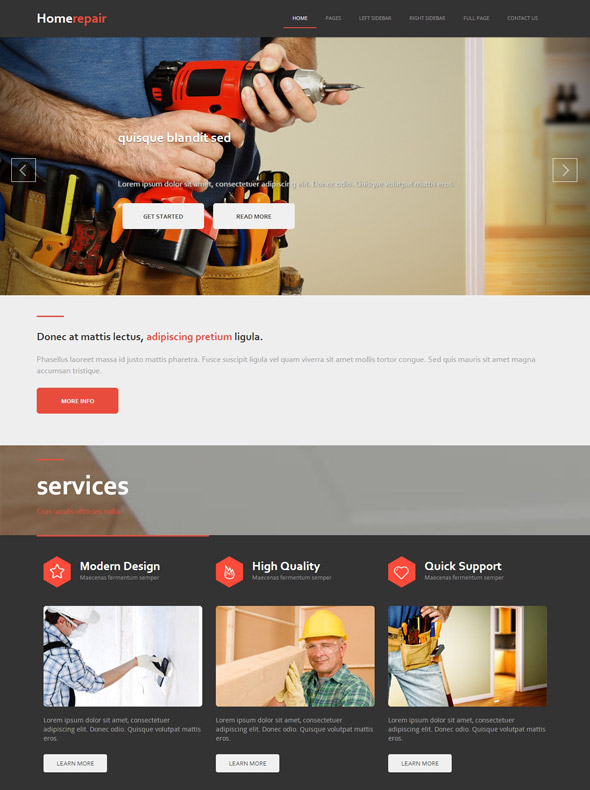Home Repair Html Template Home Renovation Website