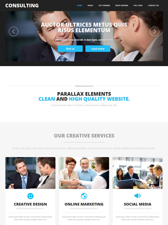 consulting website template consulting agency website templates dreamtemplate. Black Bedroom Furniture Sets. Home Design Ideas